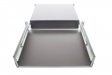 Cover panel self-adhesive for rack drawer